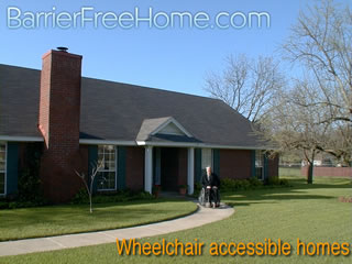 Wheelchair accessible housing universal design homes at for Handicap hallway width